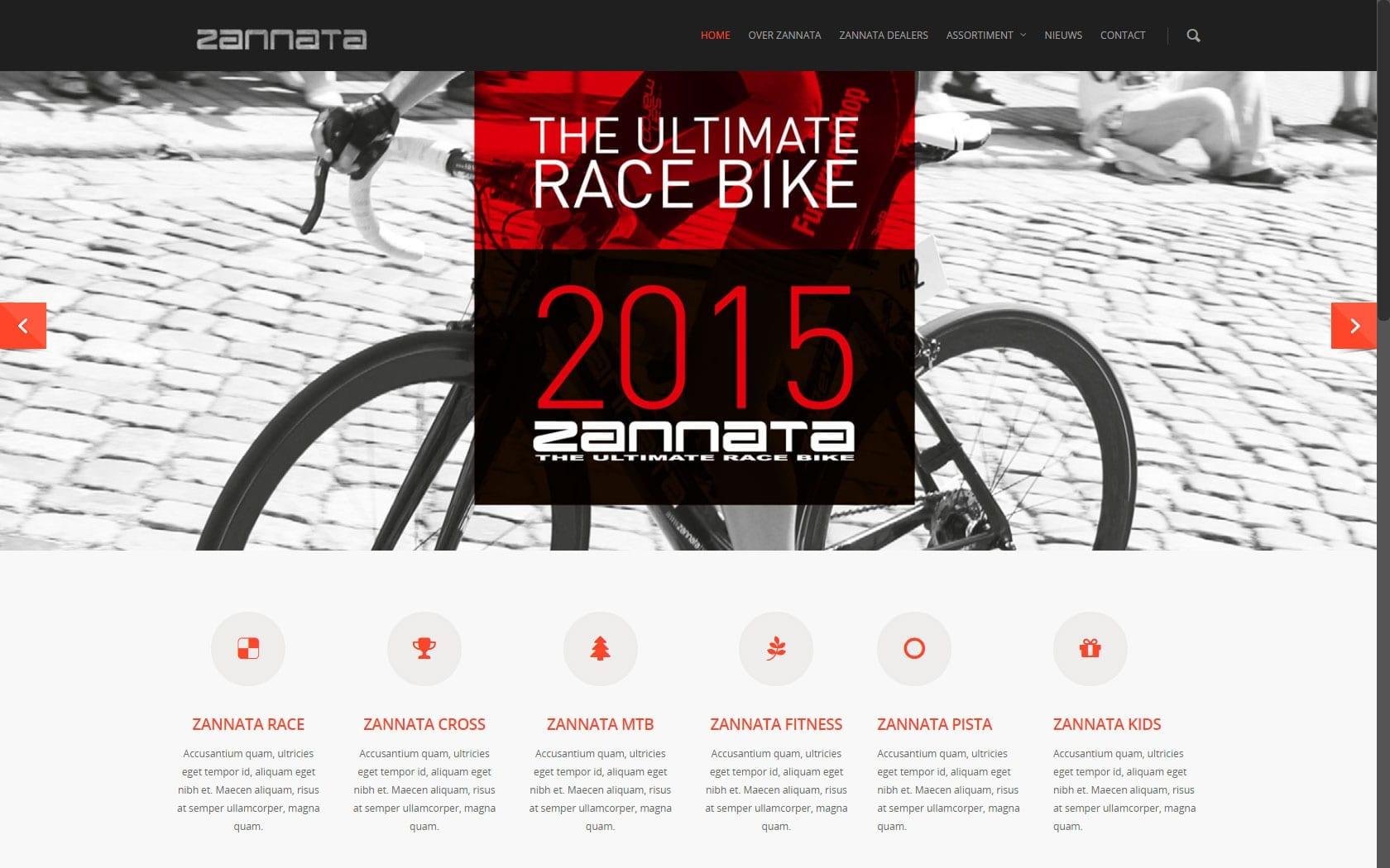Zanatta's nieuwe responsive website in aanbouw door WebXclusive bvba