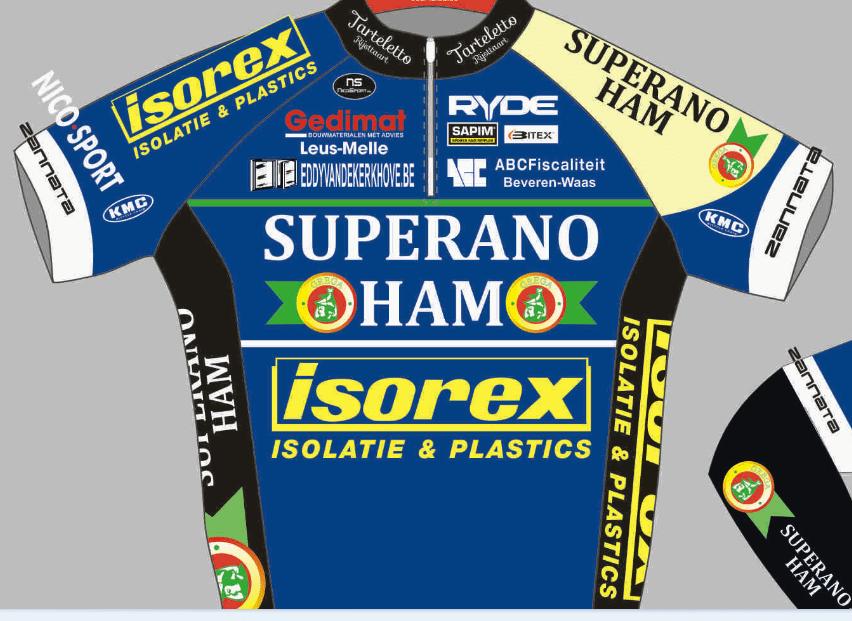 Nieuwe trui Superano Ham- Isorex- Tartelleto